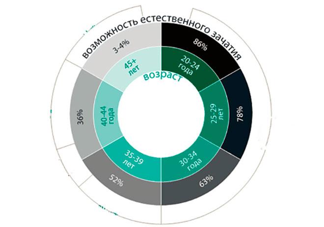 инфографика овариального резерва женщины
