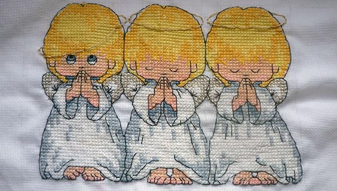 три ангелочка для вышивки чтобы забеременеть после эко