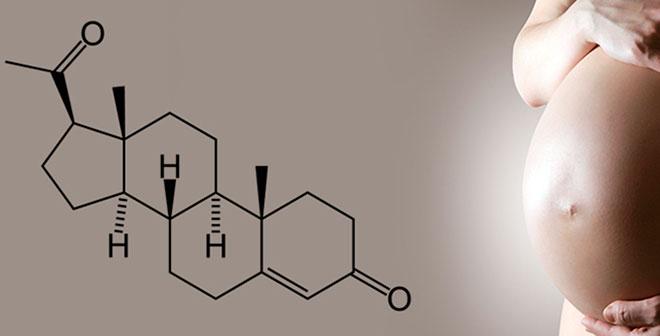 живот беременной женщины и формула гормона