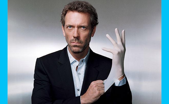 доктор хаус надевает резиновую перчатку