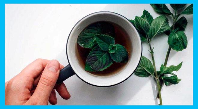 чай с листьями мяты