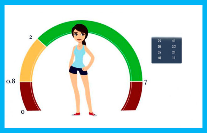 инфографика нормы амг и нарисованная девушка