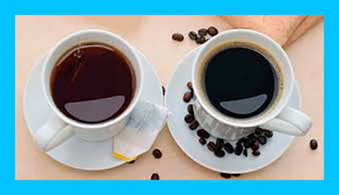 кружка чая и кружка кофе