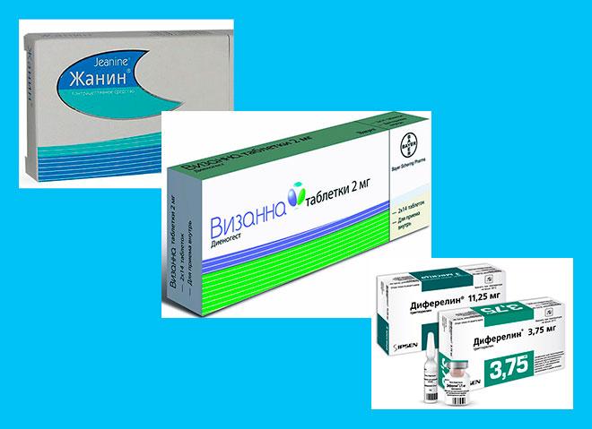 лекарства для лечения эндометриоза