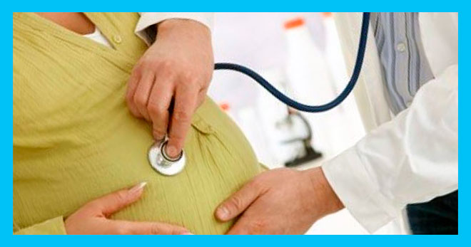 доктор слушает живот беременной женщины с впч