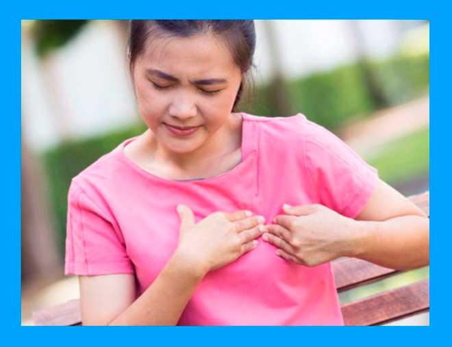 болезненные ощущения в области груди у женщины