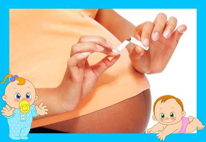 сигарета в руках беременной женщины