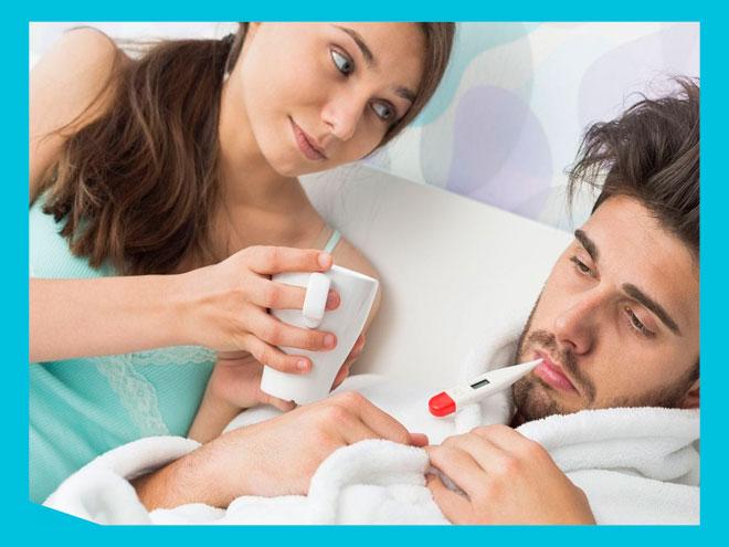 Простуда у супруга