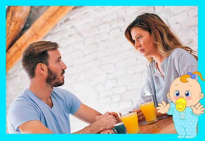 Пара обсуждает проблемы